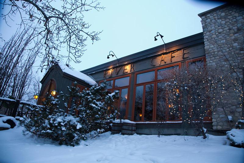 River Café, Front Elevation in Winter