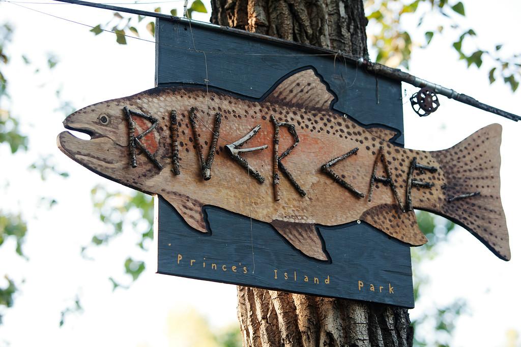 River Café Fish Sign