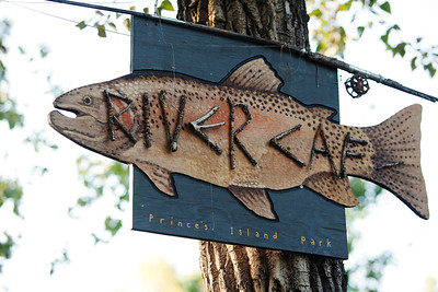 River Café Fish Sign
