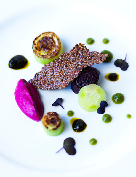 Charred Cucumber & Roast Beet