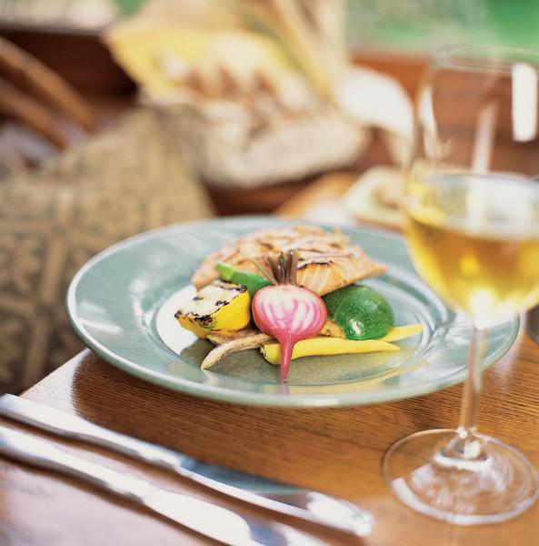 River Café Wood Grilled Salmon and Summer Vegetables