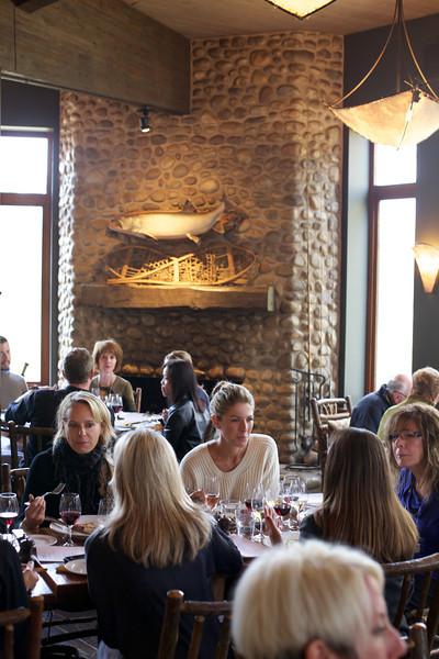 River Café, Dining Room & Fireplace