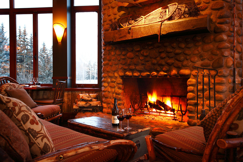 River Café Fireplace in winter