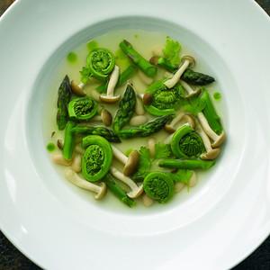 River Café Fiddlehead and Asparagus Soup