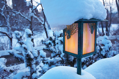River Café Winter Lampost