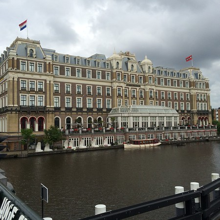 After a flight through Heathrow, we arrived at the  InterContinental Amstel River Hotel in Amsterdam.