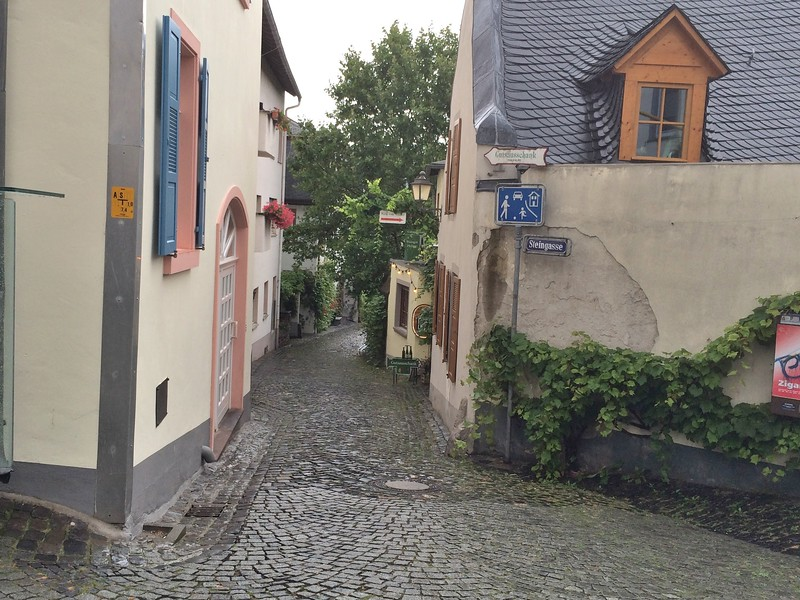 We are now in Rudesheim.
