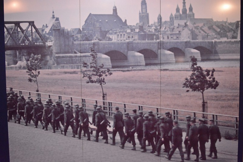 Picture from the  resistance museum showing the Germans marching into Amsterdam.