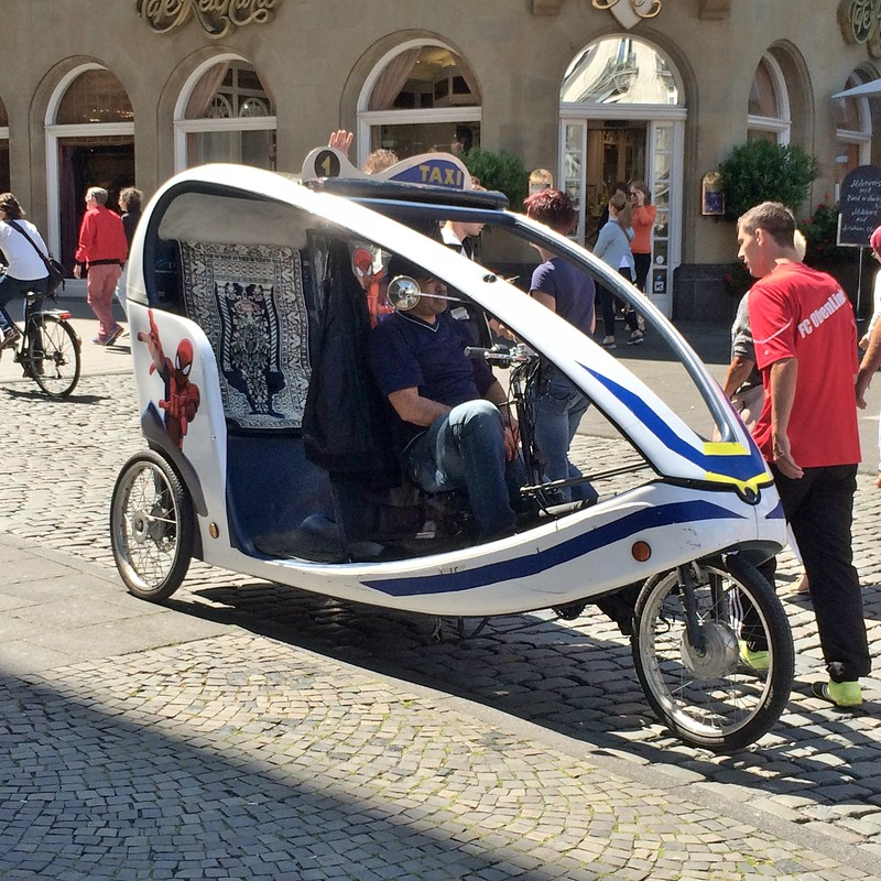 A bicycle taxi in Cologne.