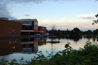 Cinema's Not Popular Today  I think the River Loddon wanted to go to the movies too.  Here it's fill the cinema car park.