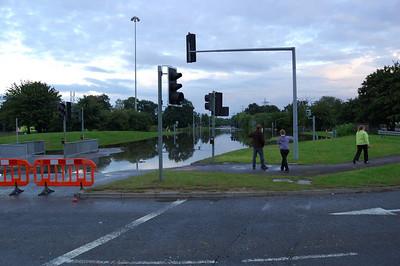 Loddon Bridge Roundabout (2)  It's quite deep in the middle.