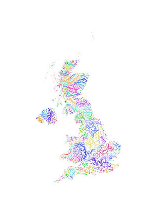 River basin map of the United Kingdom