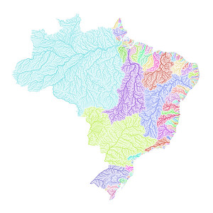 River basin map of Brazil