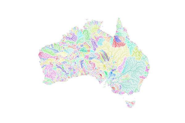 River basin map of Australia