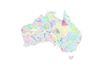 River basin map of Australia