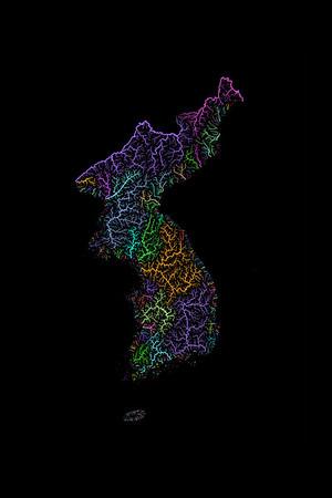 River basin map of Korea
