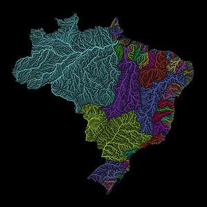 River basin map of Brazil