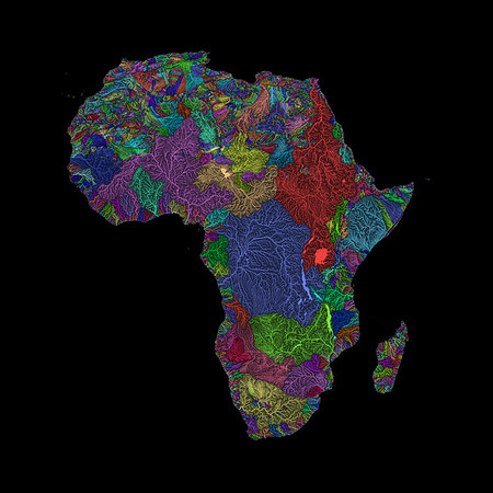 River basin map of Africa