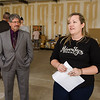Mayor Stephen DiNatale listens in as Jackie Cullen gives a tour of River Styx Brewing, a new brewery set to open next year on Boulder Dr. in  Fitchburg. SENTINEL & ENTERPRISE / Ashley Green