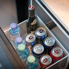 Pull-out stocked complimentary mini-bar. © 2016 Ralph Grizzle