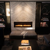 Faux fireplace with lifelike flames in the reception area on Crystal Mozart. ©2016 Ralph Grizzle