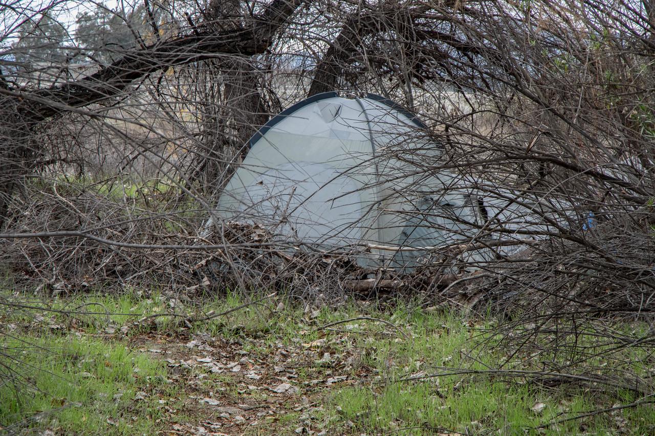 Troll tent looks a bit beat up.