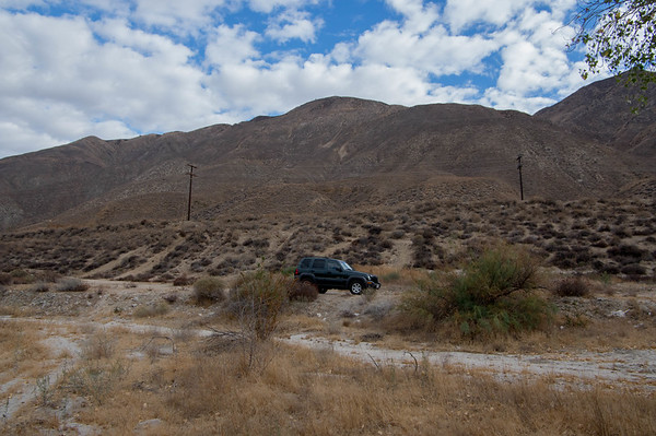 We hiked for an hour -- no mishaps -- not too terribly hot by the time we got back to the Jeep.  We had a good time.