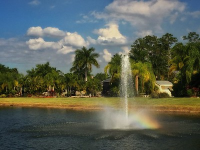Water Fountain on Turtle Lake