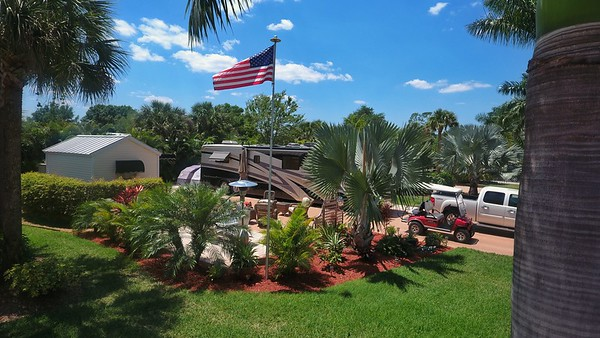 Old Glory Flying Over Owner's Lot