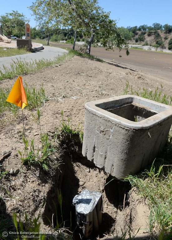 . Lots of repairs to electrical and irrigation are happening while Riverbend Park remains closed as construction is underway on repairs to the park in Oroville, Calif. Wednesday May 2. 2018. (Bill Husa -- Enterprise-Record)