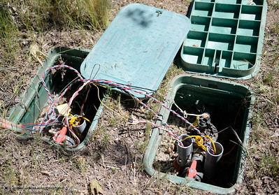 Lots of repairs to electrical items are needed while Riverbend Park remains closed as construction is underway on repairs to the park in Oroville, Calif. Wednesday May 2. 2018. (Bill Husa -- Enterprise-Record)