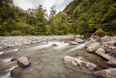 Waohine River just upstream of Mid Waohine hut, Tararua Forest Park
