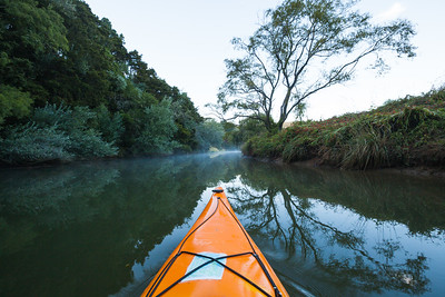 Kayak on the Puhoi River, Greater Auckland