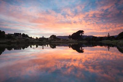 Waikanae Estuary at sunrise, Kapiti Coast, Wellington