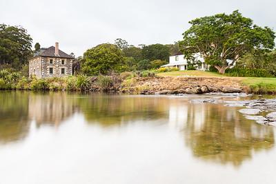 Historic Stone Store and Kemp House stand beside Kerikeri River, Kerikeri, Northland