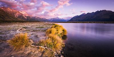 Pre dawn, Tasman Valley & Southern Alps, Glentanner