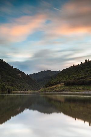 Whanganui River at dusk, Whakahoro, Whanganui