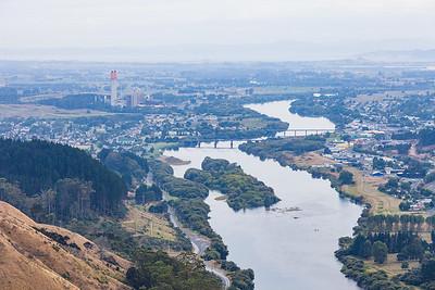 Waikato River and Huntly Thermal Power Station, Waikato King Country