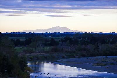 Rangatikei River and Mount Ruapehu, Bulls, Manawatu