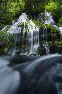 Panther Creek falls dressed in green - Washington