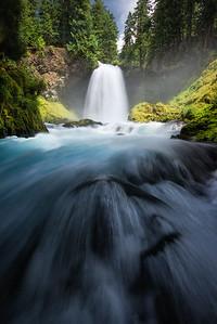 Sahalie Falls in Central Oregon