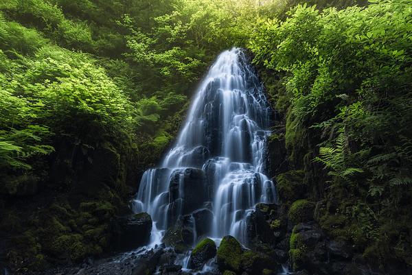 Fairy Falls in the Columbia River Gorge, Oregon
