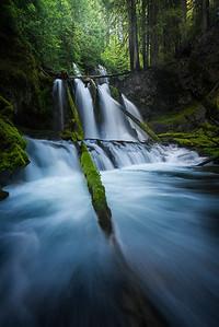 Lower Panther Falls during high flow - Washington