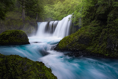 Spirit Falls in the Columbia River Gorge, Washington