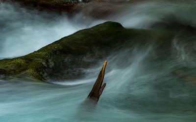 Lyre Rive Rapids Detail, Lyre River near Joyce, WA