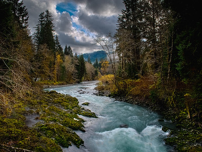The South Fork Hoh River near Forks, Washington