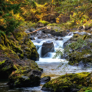 Salmon Cascades on the Solduc River, Olympic National Park