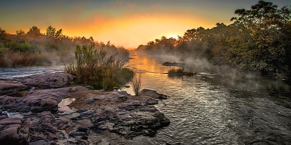 Llano river in the morning