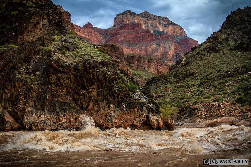 Crystal Rapid roaring through the Grand Canyon