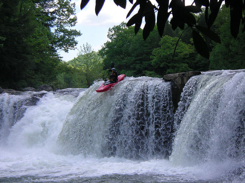 Mark on Wonder Falls of the Lower Big Sandy, Preston County, WV<br /> <br /> Photo by James Tabor